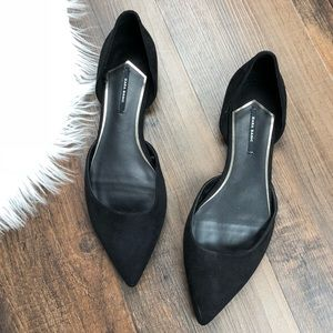 Zara Black Pointed Toe Flats